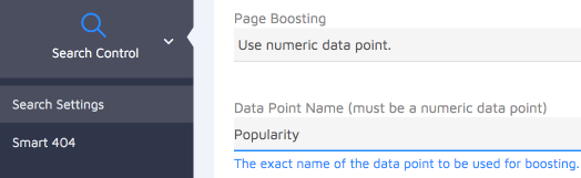 use a numeric data point for boosting