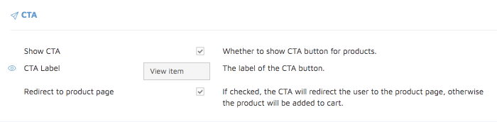 add cta buttom to lightspeed search