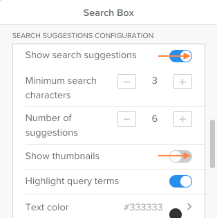Add autosuggestions to weebly search
